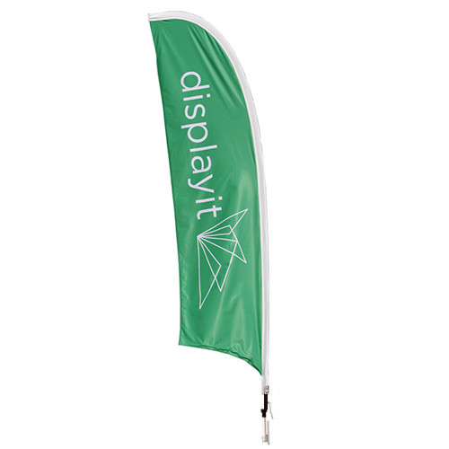 11 Foot Tall Feather Blade Flag - Medium