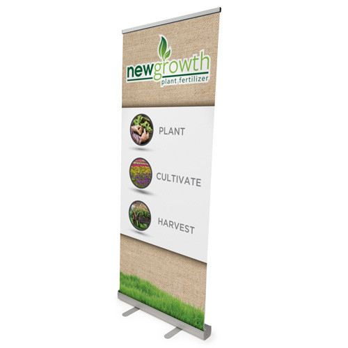 "34"" x 82.75"" Reveal Economy Retractable Banner Stand"