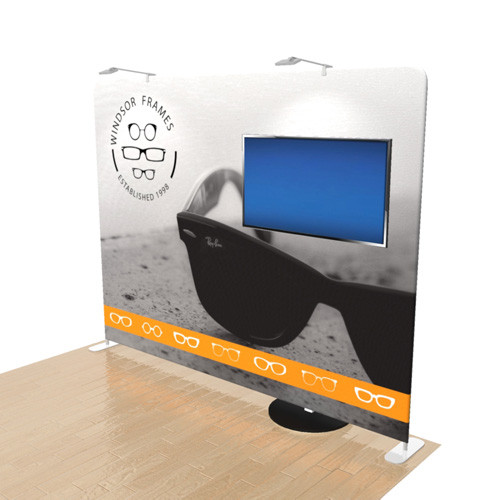 10 Foot Elements Display with Monitor Stand