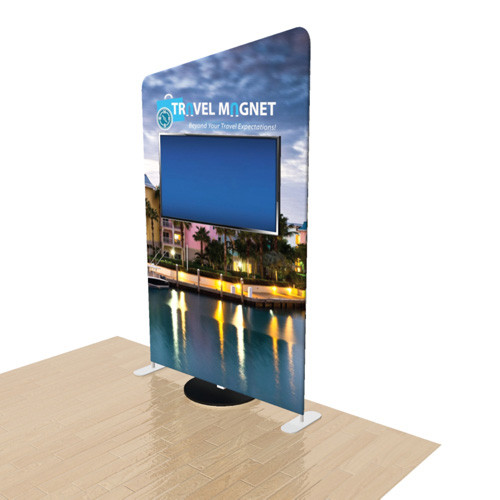5 Foot Elements Display with Monitor Stand - Slope Top
