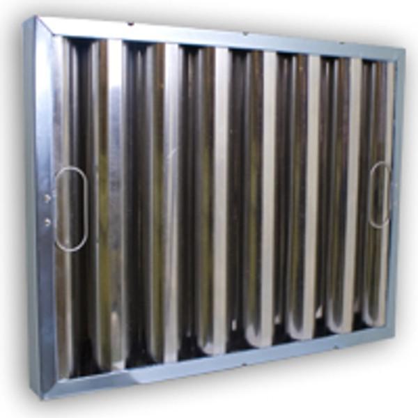 Kleen Gard 15.375 x 24.375 x 1.88 Stainless Steel Baffle (Exact Size) (Q-12810-2)