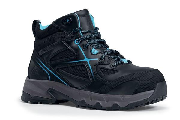Moxie Mid - Aluminum Toe ACE Workboots Women's Black + Blue (Style# 76280)