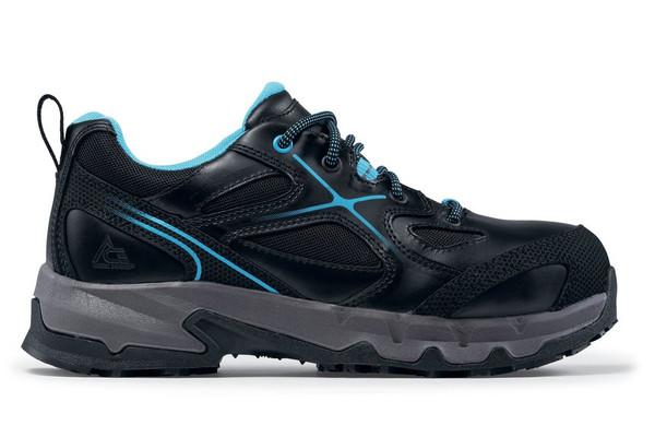 Moxie Low - Aluminum Toe ACE Workboots Women's Black + Blue (Style# 79828)