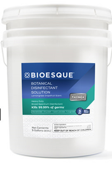 BIOESQUE BOTANICAL DISINFECTANT SOLUTION 5 GALLON PAIL **FREE SHIPPING**