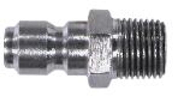 "QC PLUG 1/2"" MPT 304 STAINLESS STEEL"