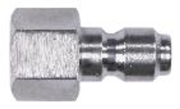 """QC PLUG 1/2"""" FPT 304 STAINLESS STEEL"""