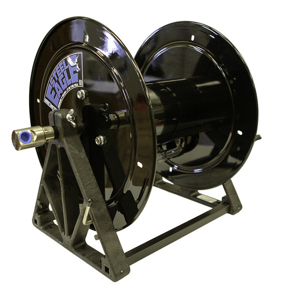 """A-Frame Hose Reel 1/2"""" Plumbing 12"""" Diameter (Painted Black)"""