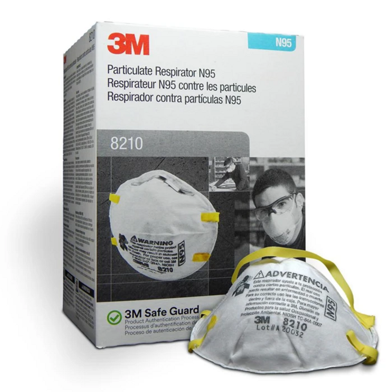 3M Particulate Respirator 8210, N95 Mask