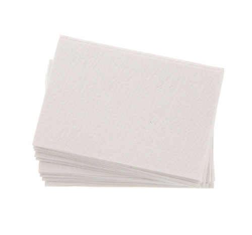 DDS Dental Supplies - Crosstex Advantage Bibs 2 Ply Paper + 1 Ply Poly - WHITE 13' x 18'