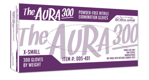 DDS Dental Supplies -  Aura 300 Powder Free Nitrile Flex Exam Gloves X-Small, 300/Bx