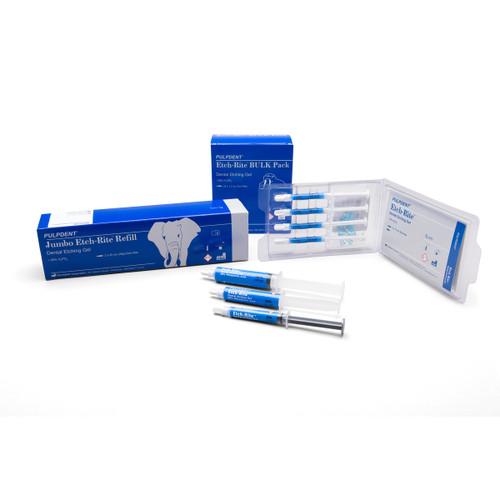 PULPDENT - ETCH-RITE DENTAL ETCHING GEL - Syringe Refill, 12ml