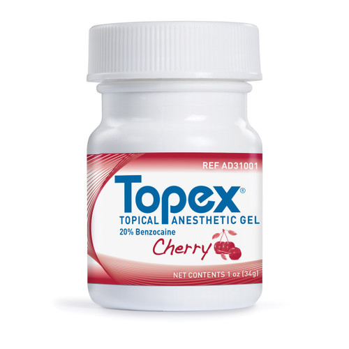 Sultan Healthcare - TOPEX TOPICAL ANESTHETICS 20% BENZOCAINE - Cherry, 1 oz