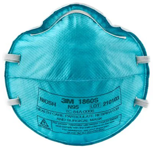 3M Health Care Particulate Respirator and Surgical Mask 1860S, Small, N95