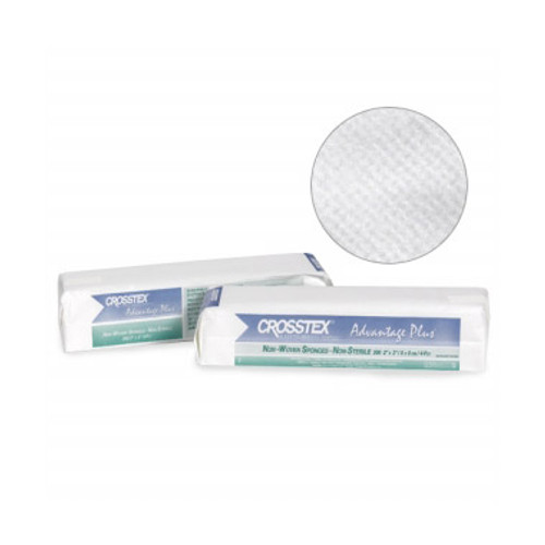 Crosstex - ADVANTAGE PLUS NON-WOVEN 4-PLY SPONGES - 2' x 2', Advantage Plus, 35g, Non-Sterile