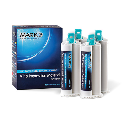 Cargus - Vinyl Polysiloxane Impression Material 50mL Cartridges Set - Medium Regular Set (4/bx)
