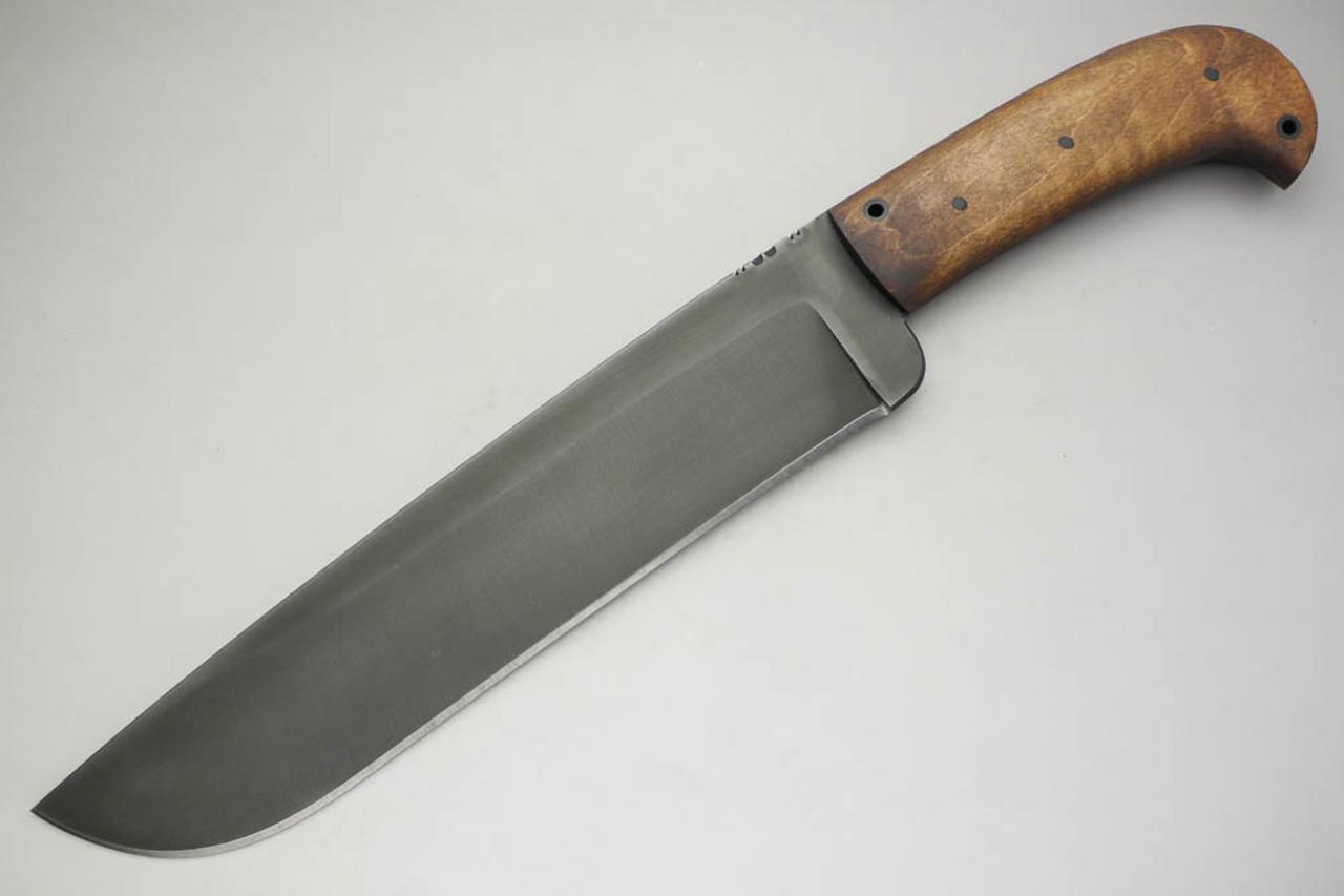 Winkler Knives Camp Knife 80crv2 Steel Saber Grind Maple Handle Tapered Tang