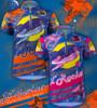 Aero Tech Youth Jersey - Lil Rockets - Orange/Pink - Cycling Jersey  Blast Off On Your Bike!