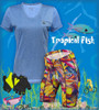 Aero Tech Women's Tropical Fish PADDED Bike Shorts - Made in USA