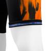 Aero Tech Men's Orange Wave Print PADDED Bike Shorts