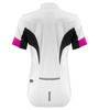 white with pink coolmax cycling jersey