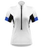 blue women's coolmax cycling jersey