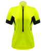 safety yellow women's cycling jersey
