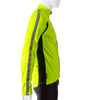 High Visibility Safety Yellow Full Zip SoftShell Cycling Jacket Side View with 3M Reflective