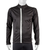 High Visibility Black Full Zip SoftShell Cycling Jacket Front View with 3M Reflective