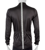 High Visibility Black Full Zip SoftShell Cycling Jacket Back View with 3M Reflective