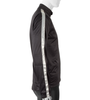 High Visibility Black Full Zip SoftShell Cycling Jacket Side View with 3M Reflective