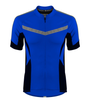 Men's High Vis Reflective Pace Cycling Jersey Royal Blue Front