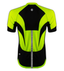 Men's High Vis Reflective Pace Cycling Jersey Safety Yellow Back