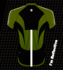 Reflective Pace Cycling Jersey Safety Yellow Back Detail