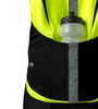 Men's High Vis Reflective Pace Cycling Jersey Safety Yellow Pocket Detail