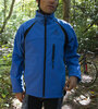 blue cycle soft shell thermal jacket