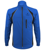 blue cycle jacket has full zipper front