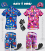 raining cats and dogs is available in blue and pink
