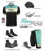 Retro Active Cyclewear Biking Sprint Jersey Kit Panel