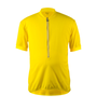 Big Men's Cycling Solid Jersey Yellow Front