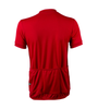 Big Men's Cycling Solid Jersey Red Back