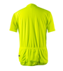Big Men's Cycling Solid Jersey Safety Yellow Back