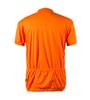Big Men's Cycling Solid Jersey Orange Back