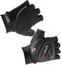 Aero Tech Youth Gel PADDED Fingerless Bike Gloves BLACK