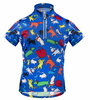 Aero Tech Youth Designer Cycling Jersey - It's Raining Cats and Dogs BLUE