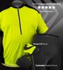 Plus size cycling jersey with matching biking gloves