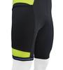 Men's Gel Touring Bib Shorts Safety Yellow Off Bottom Front View