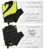Tempo Fingerless Cycling Gloves Features Panel