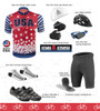 Aero Tech Sprint Jersey - Stars and Stripes - Cycling Jersey in Red/White/Blue USA made - Sprint