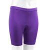 Youth padded Bike Shorts Purple Front