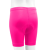 Youth padded Bike Shorts Pink Back